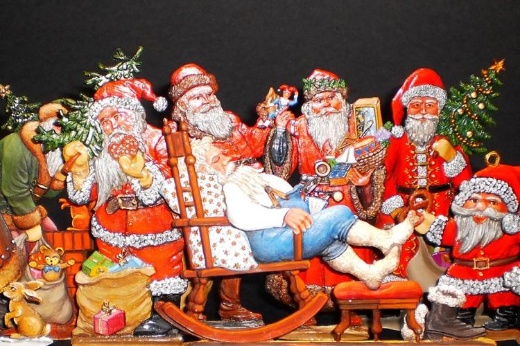 Kersttentoonstelling tinnen kerstfiguren