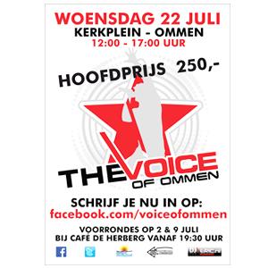 Schrijf je in voor The Voice of Ommen 2015