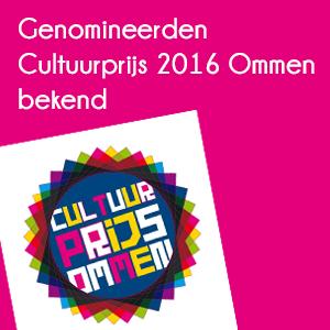 Genomineerden Cultuurprijs Ommen bekend