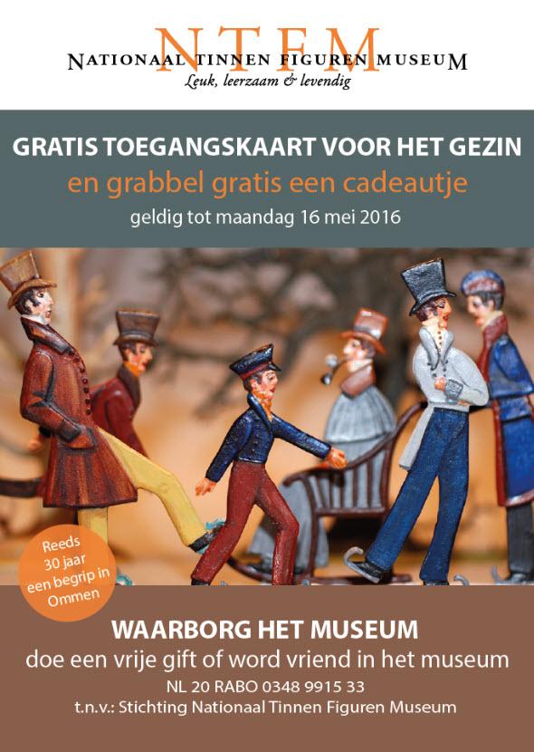 Gratis toegang tot 16 mei Tinnen Figuren Museum in Ommen