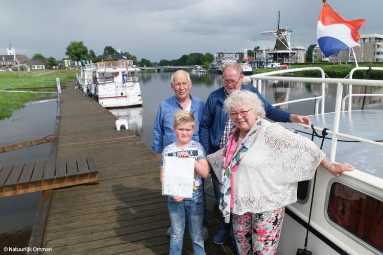 Flessenpost uit Schüttorf Duitsland bereikt Ommen via de Vecht
