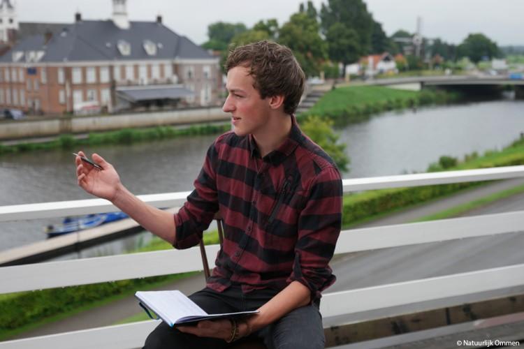 Junior Stadsdichter Lars Goosselink schrijft eerste gedicht voor Natuurlijk Ommen