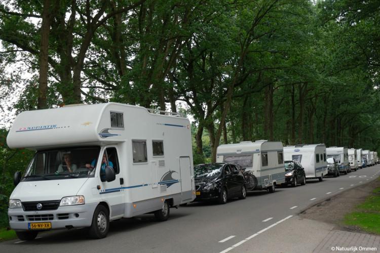 Drukke wisseldag op de campings in Ommen
