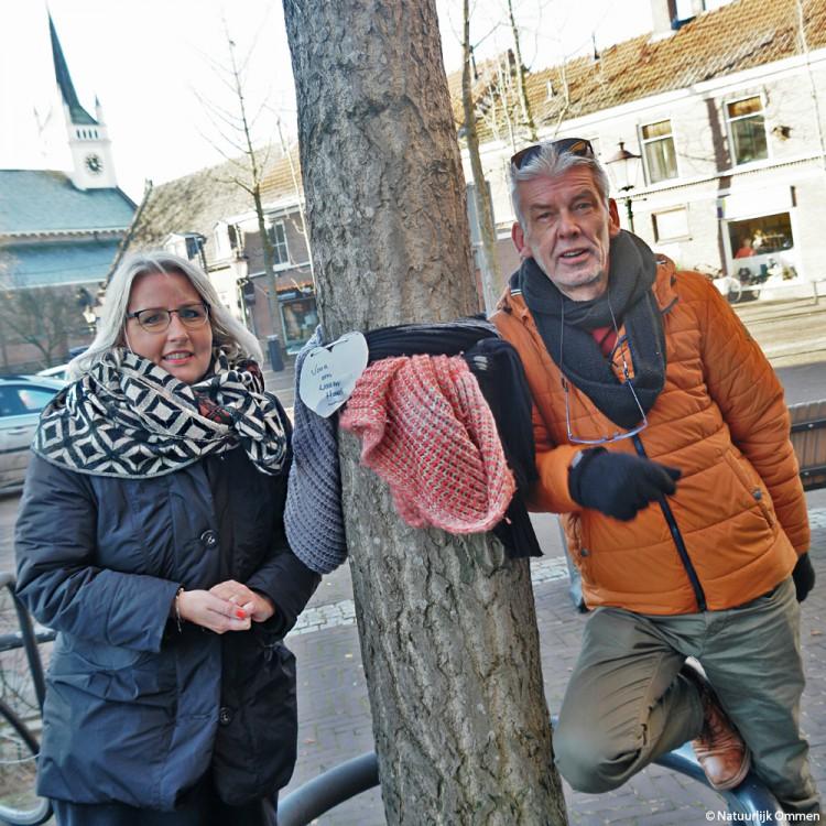 Sjaal actie in binnenstad Ommen hartverwarmend