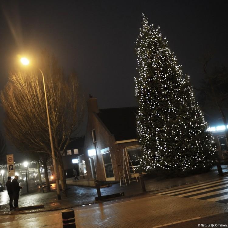 De grootste Ommer Kerstboom staat 'vul uw kerstgedachte in'
