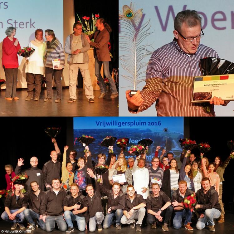 Vrijwilligerspluim 2016 voor Harry Woertink en Stichting Ommen Samen Sterk