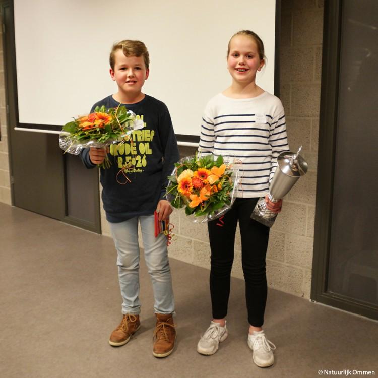 Rosalie Meilink spellingkampioen Ommen, tweede plaats voor Giel Zandman