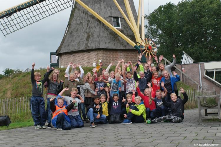 Schoolkamp groep 8 van Oranjeschool Vroomshoop leidt naar Natuurlijk Ommen