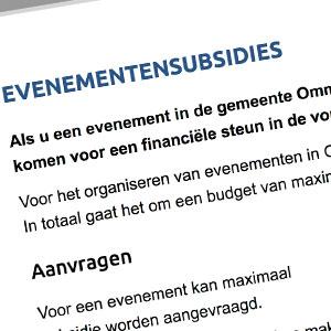 Subsidie 2018 aanvragen voor evenementen in Ommen