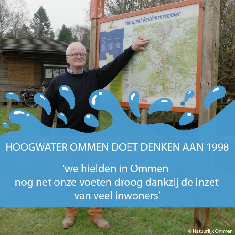 Hoogwater Ommen doet denken aan 1998