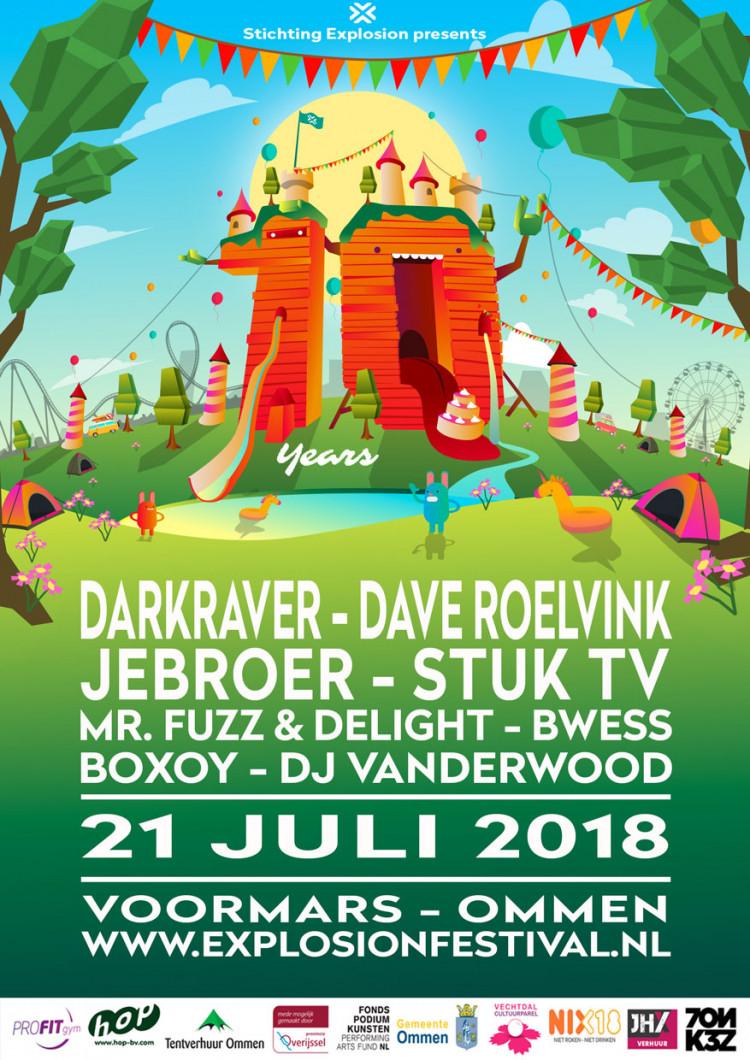 Stichting Explosion Festival pakt uit: Ommer weekend 21 en 22 juli in het teken van festivals