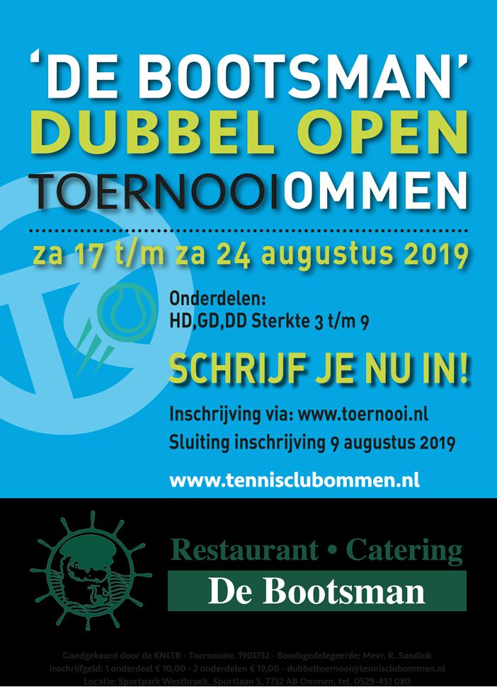 De Bootsman Dubbel Open tennistoernooi