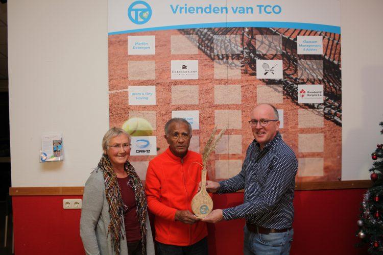 Persbericht vrijwilligerspluim 2019 Tennis Club Ommen
